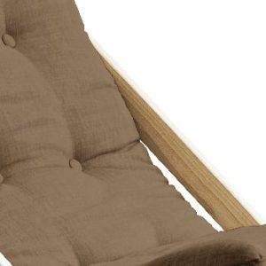 Scaun pliabil din lemn de fag Karup Design Boogie Mocca, 60 x 115 cm, maro coniac