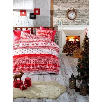 Lenjerie de pat cu cearșaf din bumbac Olivia, 160x220cm