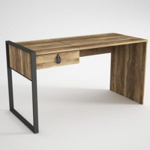 Birou cu sertar în decor de lemn de nuc Lost