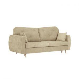 Canapea extensibilă cu 3 locuri și spațiu pentru depozitare Kooko Home Viola, bej