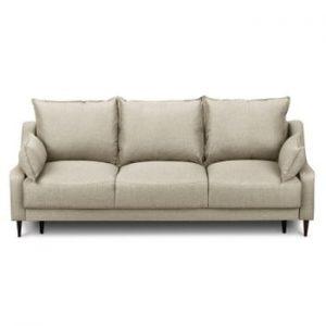 Canapea extensibilă cu 3 locuri și spațiu pentru depozitare Mazzini Sofas Ancolie, bej