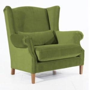 Fotoliu Max Winzer Harvey Velvet, verde oliv
