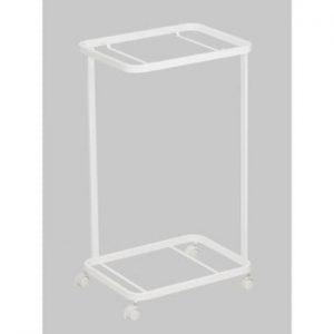 Raft mobil pentru coș de rufe Yamazaki Tosca Laundry, alb