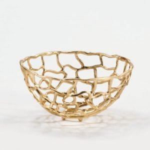Decorațiune metalică Thai Natura, auriu