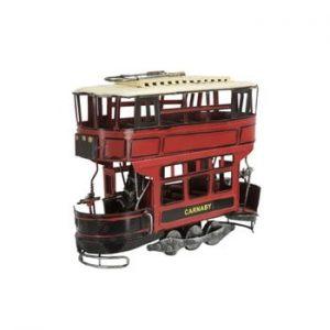 Tramvai metalic decorativ Mauro Ferretti, roșu