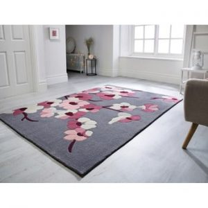 Covor Flair Rugs Blossom Charcoal Pink, 160 x 230 cm