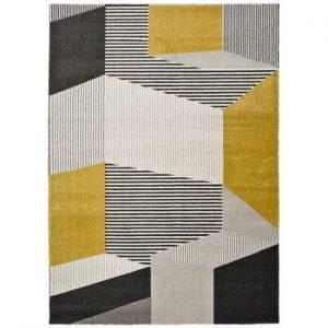Covor Universal Elle, 160 x 230 cm, galben-gri