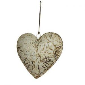 Decorațiune suspendată în formă de inimă Antic Line Beige