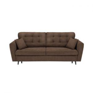 Canapea extensibilă cu 3 locuri și spațiu pentru depozitare Cosmopolitan Design Lyon, maro