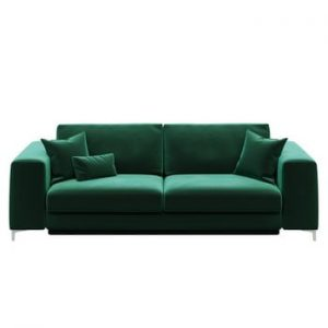 Canapea extensibilă cu 3 locuri devichy Rothe, verde închis