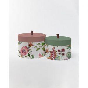 Cutii de depozitare Surdic Round Flores Salvajes, 30 x 30 cm