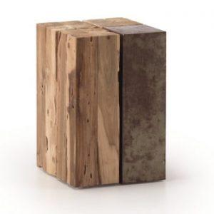 Noptieră din lemn de tec La Forma Ognak