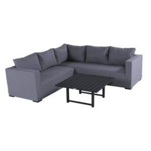 Set mobilier de grădină și masă pătrată Hartman Oliver, gri