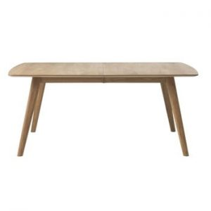 Masă extensibilă din lemn de stejar alb Unique Furniture Rho, 90 x 150/190 cm