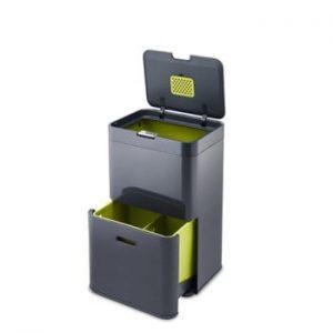 Coș deșeuri reciclabile Joseph Joseph IntelligentWaste Totem 48, gri