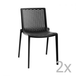 Set 2 scaune de grădină Resol Net-Kat, negru