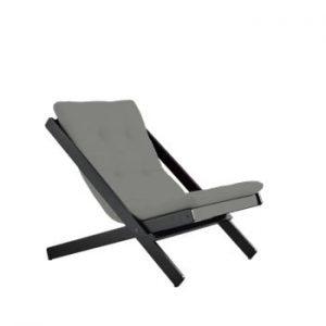 Fotoliu pliant Karup Design Boogie Black/Grey