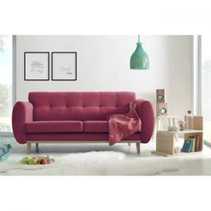 Canapea cu 3 locuri Bobochic Paris Viking, roșu