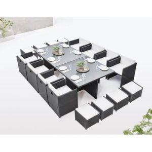 Set de mobilier de grădină din 18 piese Bobochic Paris Family