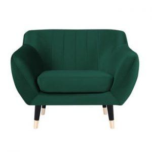 Fotoliu Mazzini Sofas BENITO cu picioare negre, verde
