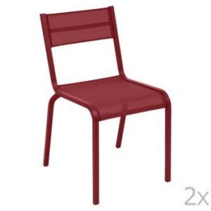 Set 2 scaune de grădină Fermob Oléron, roșu