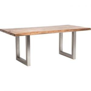 Masă cu blat din lemn de acacia Kare Design Pure, lungime195cm