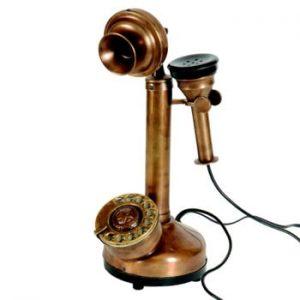 Decorațiune Antic Line Rusty Telephone