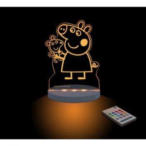 Lampă de veghe cu LED pentru copii Aloka Peppa Pig Teddy