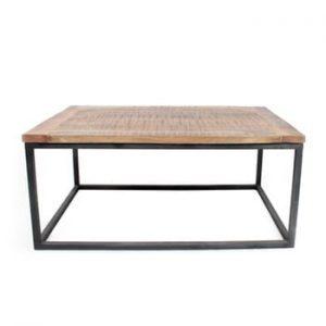 Măsuță cu blat din lemn de mango LABEL51 Box XL, negru