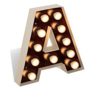 Decorațiune luminoasă în formă de literă Glimte Lamp Floor A
