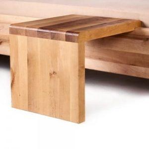 Noptieră din lemn de arin tratat cu ulei Mazzivo Coob