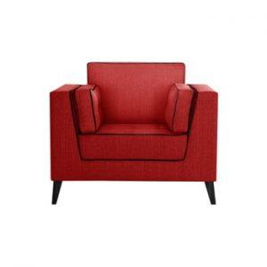 Fotoliu cu detalii negre Stella Cadente Maison Atalaia Red, roșu