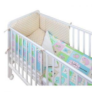 Protecție grilaj pat pentru bebeluși YappyKids Bumper Play 60 x 60 cm
