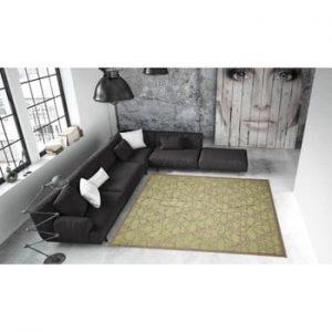 Covor foarte rezistent Floorita Fiore, 135 x 190 cm, verde
