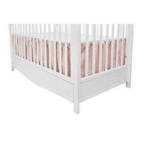 Protecție din material textil cu 2 laterale pentru pătuț BELLAMY Dust Pink, roz