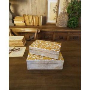 Set 2 cutii din lemn de mango Orchidea Milano Ramage
