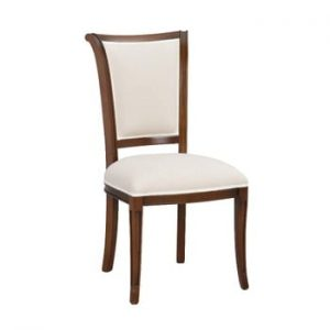 Scaun tapițat din lemn de fag Folke Amore, alb