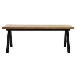 Masă cu blat din lemn de stejar alb Unique Furniture Oliveto