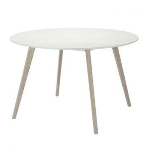 Masă dining Furnhouse Life, Ø 120 cm, alb