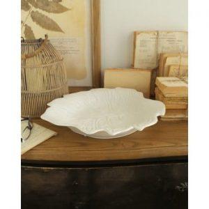 Bol decorativ din ceramică Orchidea Milano Tropical, ⌀ 40 cm, alb