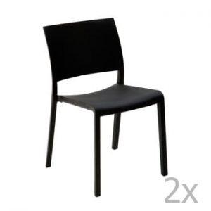 Set 2 scaune de grădină Resol Fiona, negru