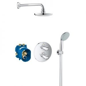 Set dus Grohe Grohtherm 1000 termostatic 7 in 1 incastrat