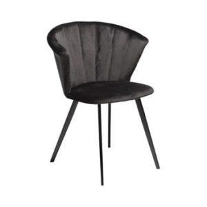 Fotoliu DAN–FORM Denmark Merge Velvet, negru