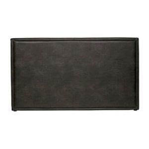 Tăblie de pat din piele reciclată BePureHome Snooze, negru