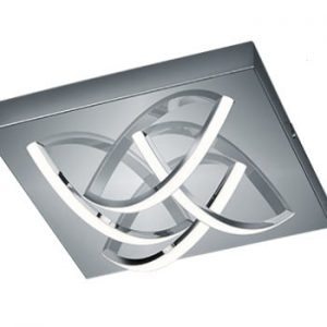 Plafonieră LED Trio Dolly, 30 x 30 cm, argintiu