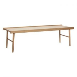 Masă din lemn Hübsch Table With Edge, lungime 137 cm