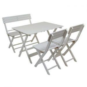 Set masă, bancă și 2 scaune pentru grădină Santiago Pons Garda