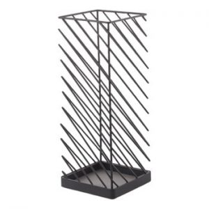 Suport pentru umbrele YAMAZAKI Slash, lățime 18 cm, negru