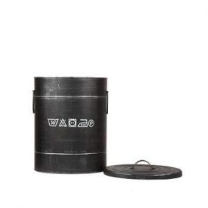 Coș metalic pentru rufe LABEL51, ⌀32cm, negru
