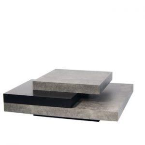 Măsuță de cafea TemaHome Slate, cu aspect de beton - negru